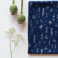 Viscose Herbs bleu foncé 20 x 140 cm