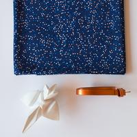 Viscose Triangles bleu 20 x 140 cm