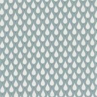 Toile enduite Teardrops coloris ice green 20 cm x 140 cm