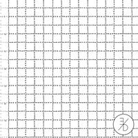 DERNIER COUPON Jersey Black grid 50 x 160 cm