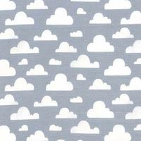 Tissu Nuages Cloudy coloris gris 20 x 110 cm