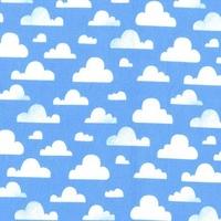Tissu Nuages Cloudy coloris bleu 20 x 110 cm