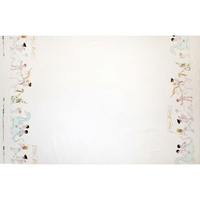Tissu Sarah Jane Magic Parade fond blanc 20 x 110 cm