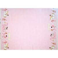 Tissu Sarah Jane Magic Parade fond rose 20 x 110 cm