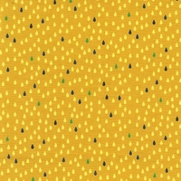 Tissu Droplets mini gouttes fond moutarde 20 x 110 cm