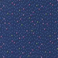 Tissu Droplets mini gouttes fond blueberry 20 x 110 cm