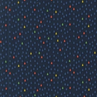 Tissu Droplets mini gouttes fond marine 20 x 110 cm