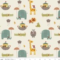 Tissu Girafe Crossing arcge de Noé 20 x 110 cm