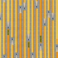 Tissu Crayons gris jaune 20 x 110 cm
