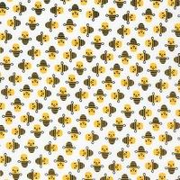 Tissu mini abeilles 20 x 110 cm