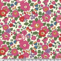 Liberty Betsy rose et vert coloris J 20 x 137 cm