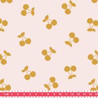 COUPON de Cherries gold, poly/coton coloris nude 1m60 x 140 cm