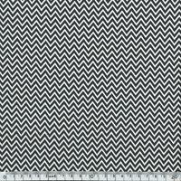 Popeline mini chevrons noir et blanc 20 x 140 cm