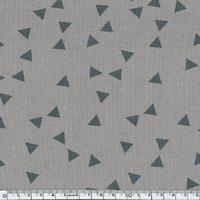 Jersey triangles fond gris 20 x 140 cm