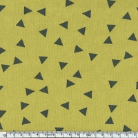 Jersey triangles fond olive 20 x 140 cm