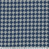 Jersey géométrique bleu et gris 20 x 140 cm
