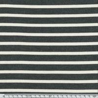Jersey rayures gris foncé chiné et blanc 20 x 140 cm