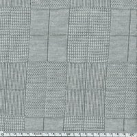 Jersey carreaux ton sur ton gris chiné 20 x 140 cm
