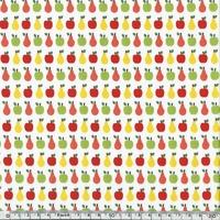 Popeline pommes et poires 20 x 140 cm