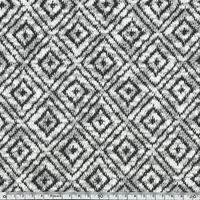 Maille losanges noir fond blanc 20 x 140 cm