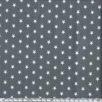 Toile enduite étoiles blanches fond gris 20 x 140 cm