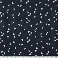 Toile enduite triangles fond noir 20 x 140 cm
