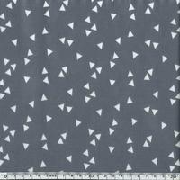 Toile enduite triangles fond gris 20 x 140 cm