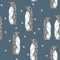 Sweat Geo Penguin bleu nuit 20 x 160 cm