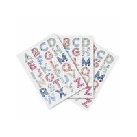 Lot de 10 feuilles Alphabet Liberty