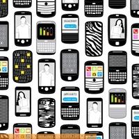 Tissu Geek téléphone portable 20 x 110 cm