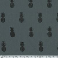 A nana's fabric Black polycoton poivre gris 20 x 140 cm