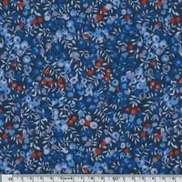 EXCLU molleton Liberty Wiltshire bleu 20 x 150 cm