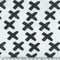 DERNIER COUPON Sweat léger croix fond blanc 35 x 140 cm