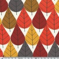 DERNIER COUPON Jersey Bio Feuilles 48 x 110 cm