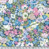 DERNIER COUPON Liberty Thorpe rose et bleu coloris A 16 x 137 cm
