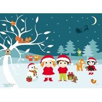 Coupon de Noël par Latcho Drom, env. 25 x 34 cm