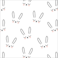 Jersey Sleepy bunny lapin 20 x 160 cm