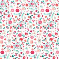 Tissu Recollection Bullion Fronds Carnation 20 x 110 cm