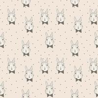 Jersey Bunny Box Lapin coloris rose poudré 20 x 160 cm