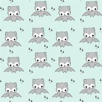 Jersey Happy Bat bleu/menthe 20 x 160 cm
