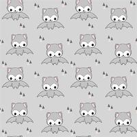 Jersey Happy Bat gris/rose 20 x 160 cm