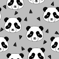 Jersey Panda coloris gris 20 x 160 cm