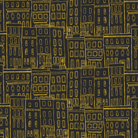 Tissu Gramercy Brownstone Coated 20 x 110 cm