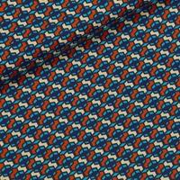 Tissu enduit Color Windows Bleu et Rouille 20 x 130 cm