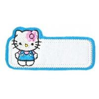 Thermocollant  étiquette Hello Kitty Bleu