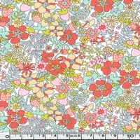 Liberty Flower Tops coloris B 20 x 137 cm