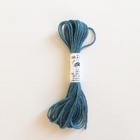 Echeveau de 5m de soie d'Alger bleu canard coloris 5386
