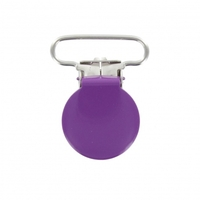 Attache-bretelle ou attache-tétine violet 25mm