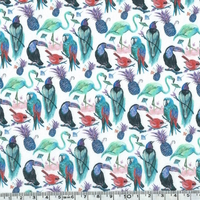 Liberty Birds of paradise bleu coloris B 20 x 137 cm
