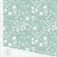 Jersey Flora Dusty Mint 20 x 160 cm